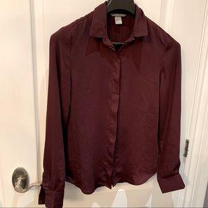 H&M Silky Button Down Shirt